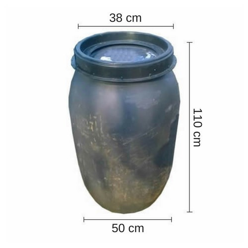 tarrina 200 lts. - tankes - tapa rosca. usada.