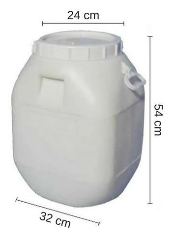 tarrina 50 lts. - tankes - tapa rosca - reciclada
