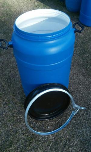 tarrina plastico 80 litros tapa y suncho metalico limpias