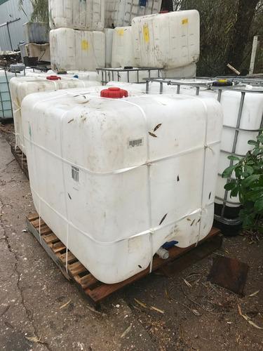 tarrinas plasticas de 1000 litros ibc flejadas al pallet