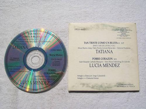tatiana - lucia mendez. cd promo sony 1994