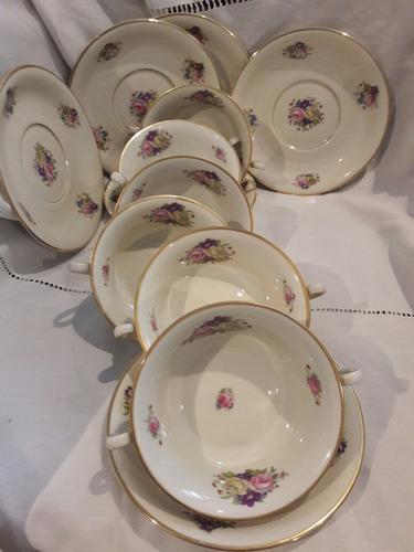 tazas consomeras  postre  porcelana rosenthal ivory bavaria