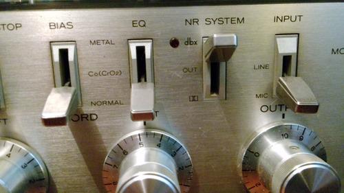 teac casetero con dbx mandos electrónicos salida auriculares