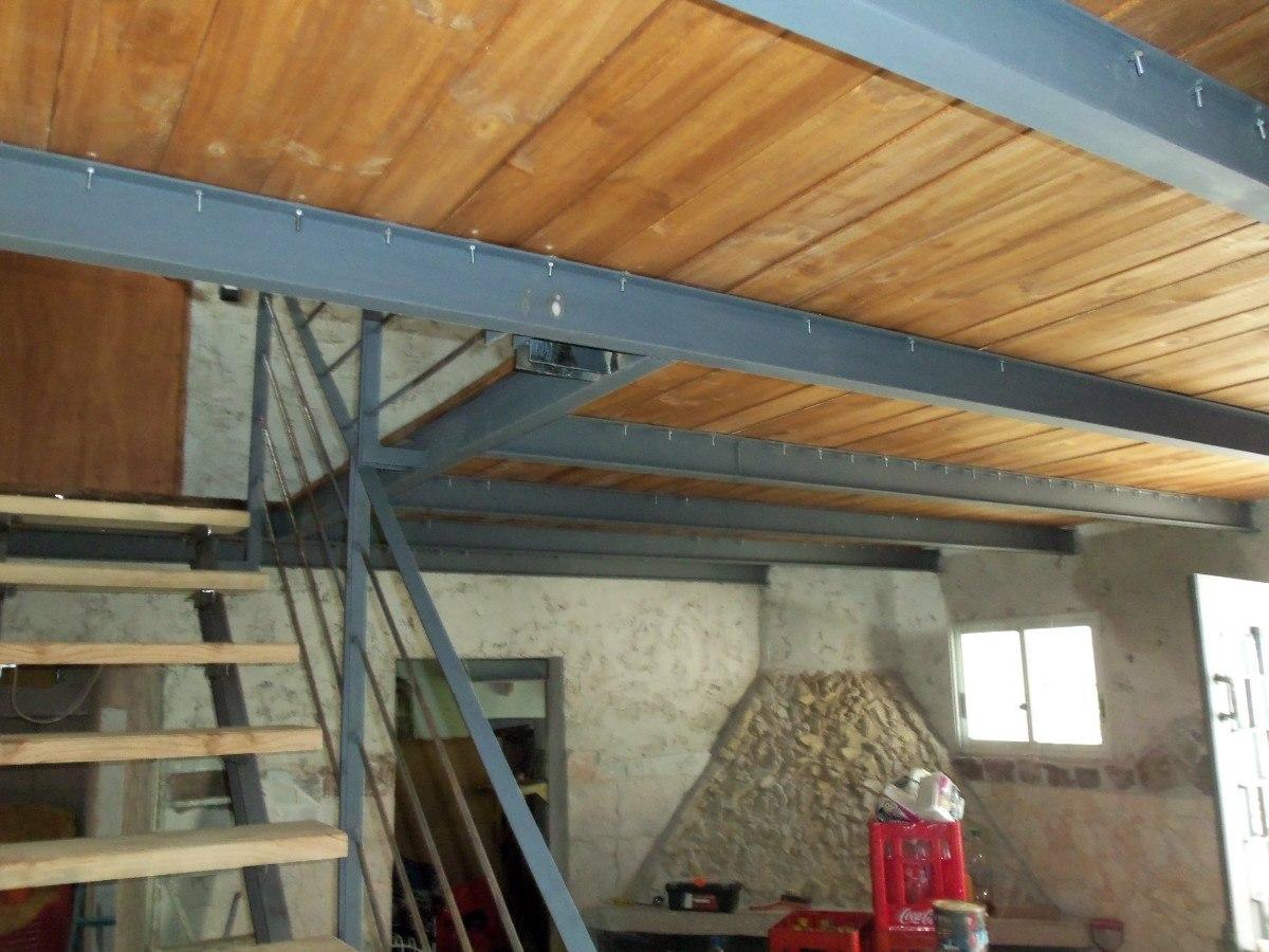 Techos de chapa estructuras metalicas entrepisos escaleras - Como hacer un altillo de madera ...