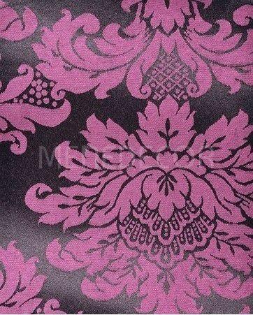 tecido para decoração jacquard pink e preto 10m x 2.80m