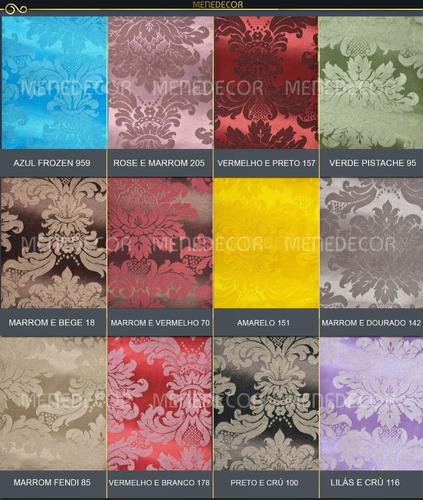 tecido para decoração jacquard vermelho e branco 10m x 2.80m