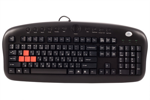teclado a4 tech multimídia p/ game usb kb-28g bk preto