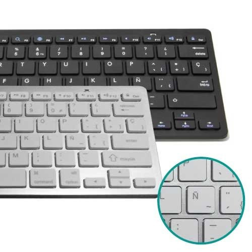 teclado bluetooth inalámbrico ipad mac pc android smart tv