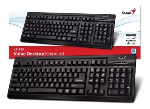 teclado español genius kb-125 ps2 ñ numerico win mac 540grs