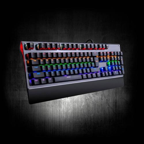 teclado gamer mecánico usb retroiluminado
