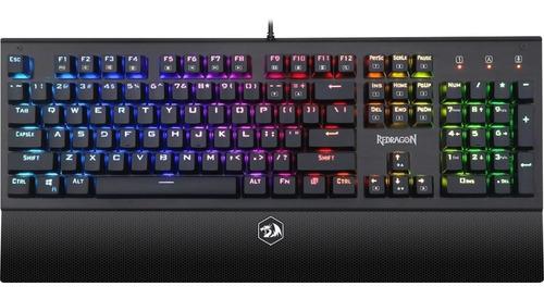 teclado gamer redragon arya mecanico colores rgb