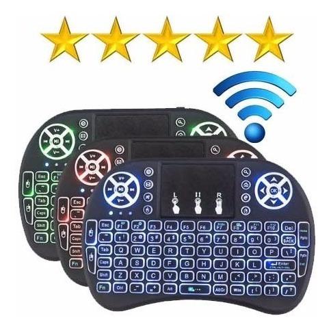 teclado inalámbrico control  mouse android tv iluminado mli