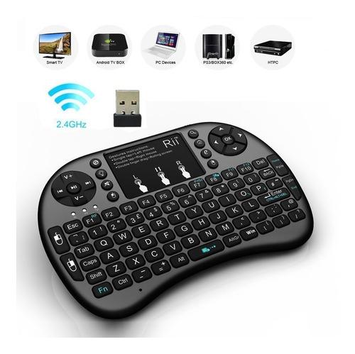 teclado inalambrico mini iluminado con touchpad para tv pc