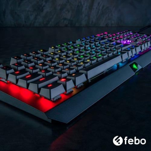 teclado mecanico gamer razer blackwidow x chroma usb febo