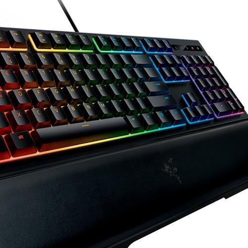 teclado simil mecanico usb gamer razer ornata chroma pc febo