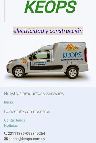 tecnico electricista autorizado por ute.. 24 horas