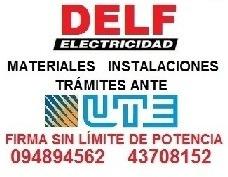 técnico electricista autorizado por ute.