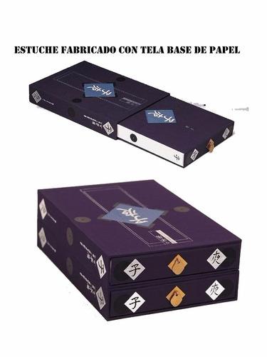 tela encuadernación fina base papel importada 1mt. x 0.68
