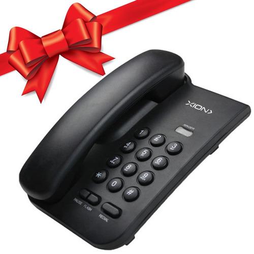 telefono fijo de mesa blanco y negro xion regalo !
