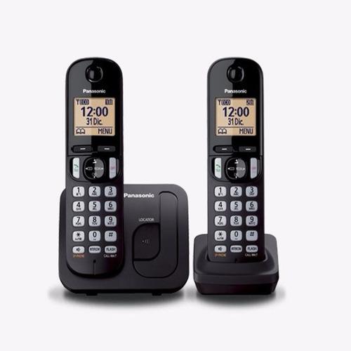 teléfono inalámbrico panasonic kx-tgc212 2 base lcd el cerro