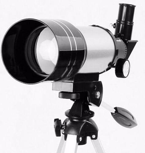 telescopio galileo con aumentos y lentes y trípode de mesa