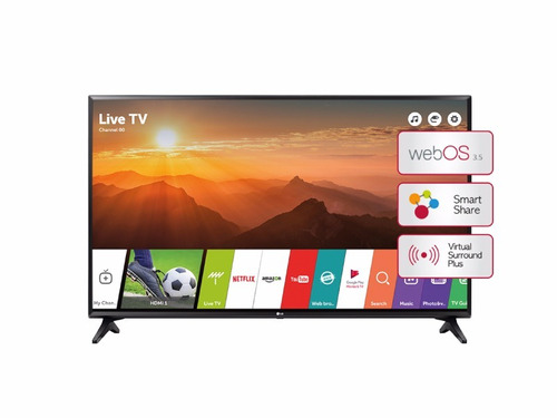 televisor led 43'' lg smart 43lj5500 motociclo
