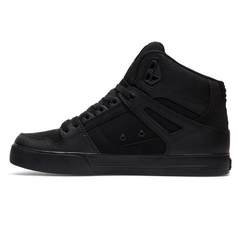tenis caballero spartan high wc m shoe xkkk negro dc shoes