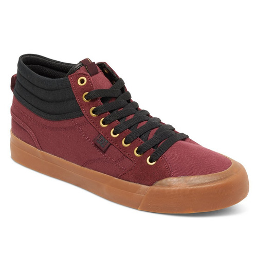 tenis hombre evan smith hi spring 2017 rojo dc shoes