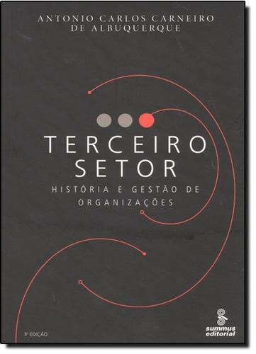 terceiro setor história e gestão de organizações de antonio