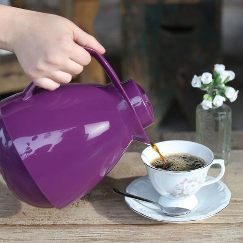 termo tetera amare mor 650ml moderno para té café rosado