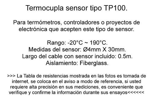 termocupla sensor temperatura tp100 pt100 arduino emn