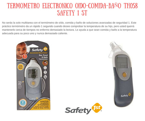 termómetro electrónico oido-comida-baño th058  safety 1st