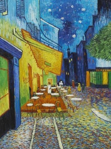 Terraza De Café Por La Noche Van Gogh Poster 100x73 Cm