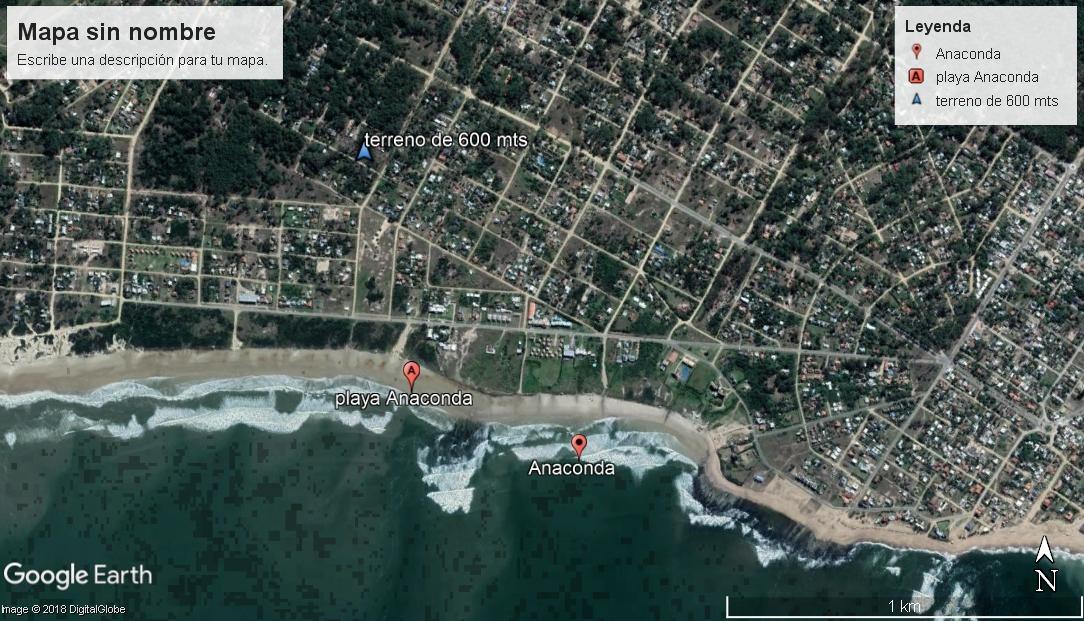 terreno 600 mts - playa anaconda-calle 17-a 400 mts del mar