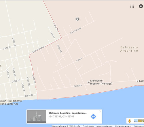 terreno balneario argentino 4 cuadras de la playa
