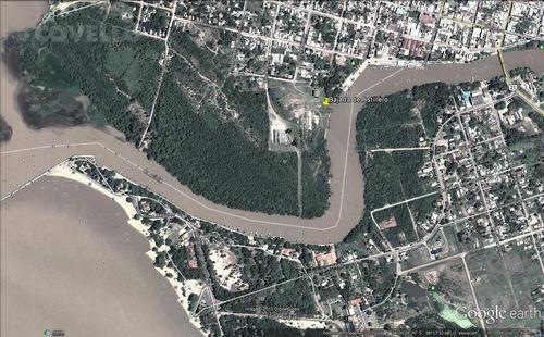 terreno, con costa a rio, playa, desarrollo turístico. proyección
