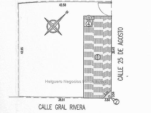 terreno de 1826 m2 pleno centro de tacuarembó rivera y 25