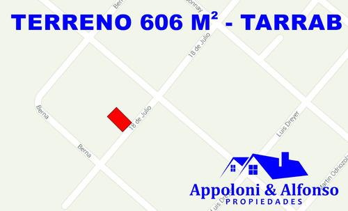 terreno de 606 m2 en nueva helvecia - tarrab