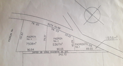 terreno de 7508 m2 sobre ruta tajamar - permuto