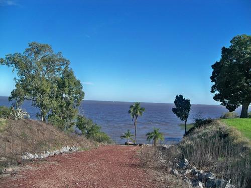 terreno en barrio privado campo chico con playa sobre el río