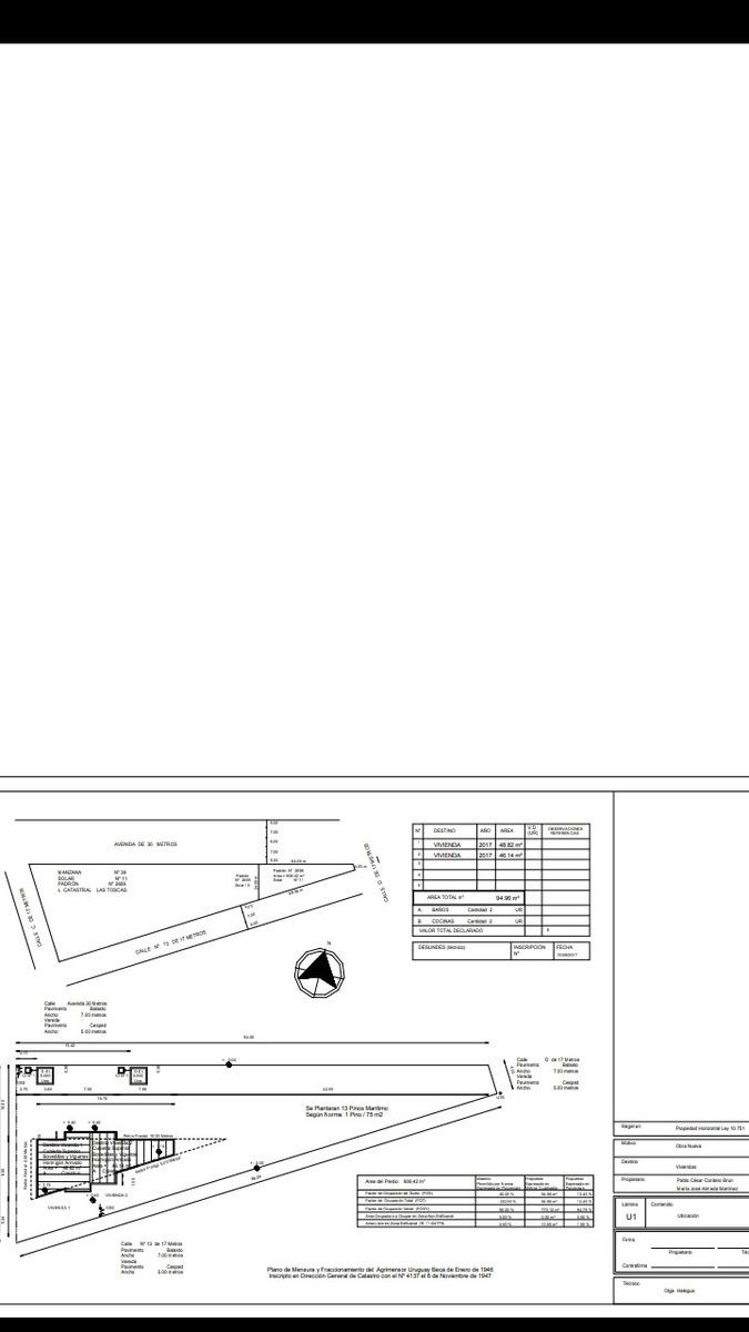 terreno en las toscas. con proyecto aprobado para dos casas.