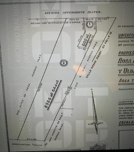 terreno en tacuarembó. 6986 m2. excelente ubicación.