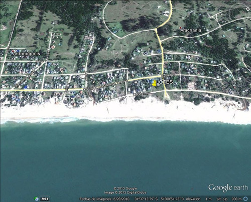 terreno playa arachania sobre la playa frente al mar