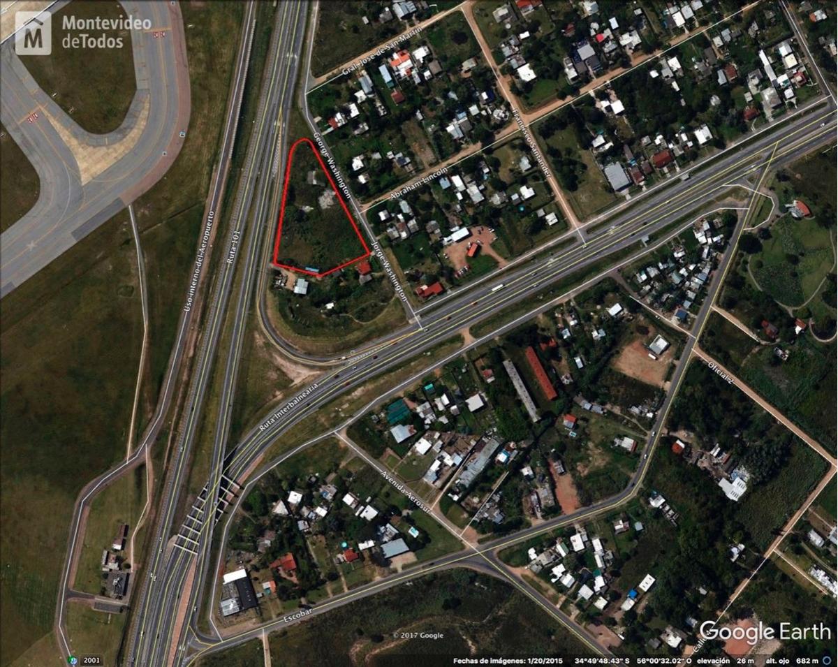 terreno ruta 101 esquina interbalnearia con 100 m. de frente