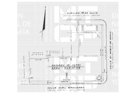 terreno sobre avenida, a 3 calles, 951 m2 de terreno, vis