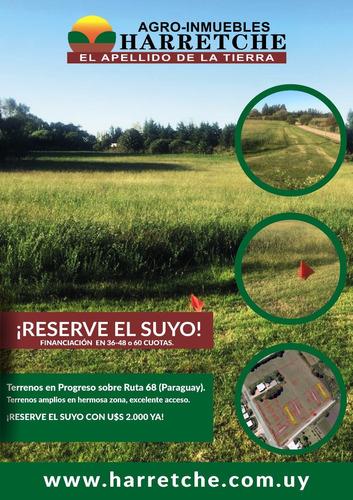 terrenos en progreso- financiados ultimos disponibles