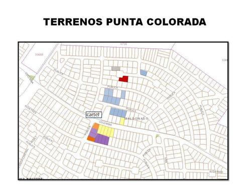 terrenos en punta colorada, tamaños a partir de 1000m2