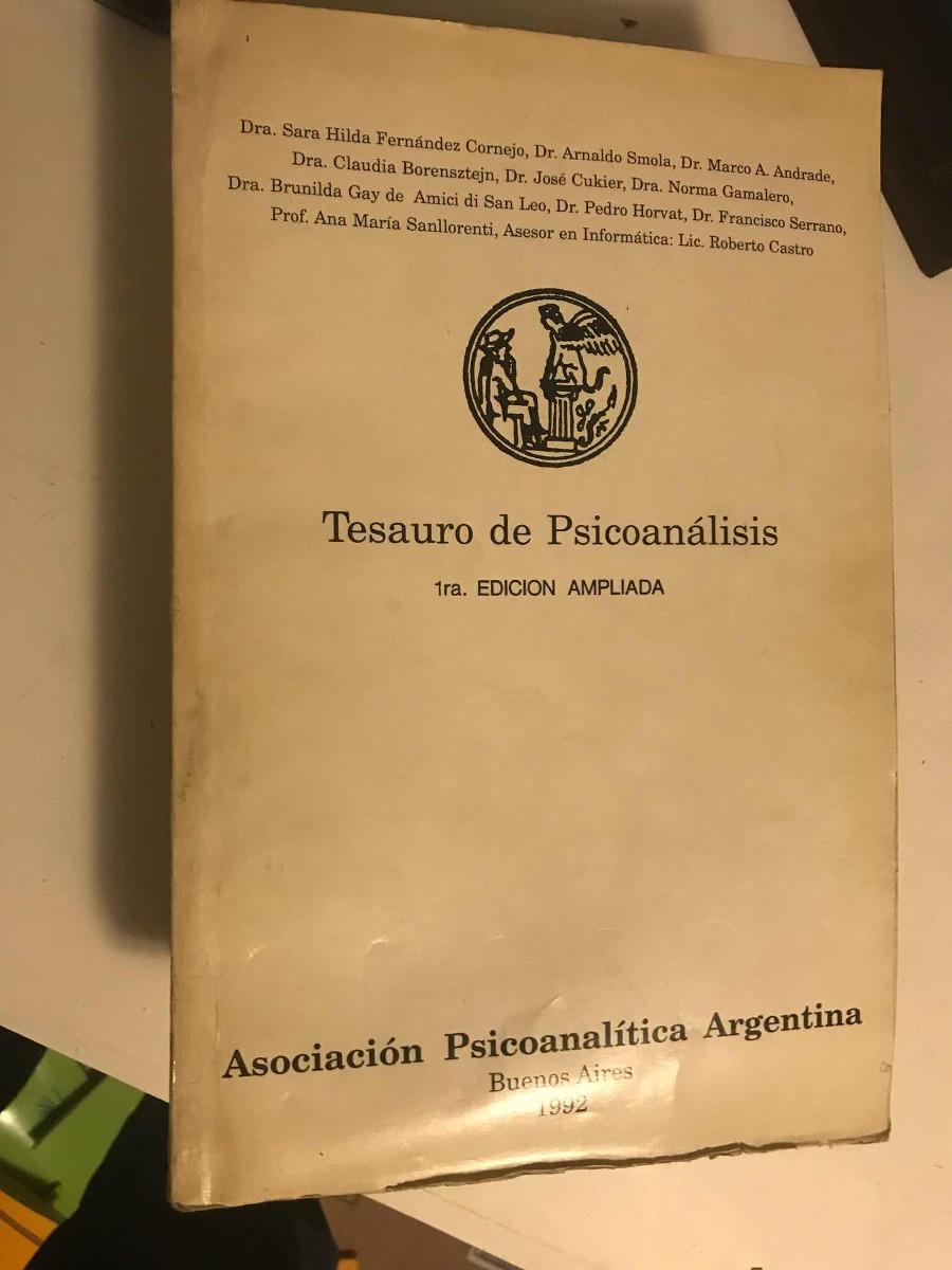 Tesauro Del Psicoanálisis Apá 1992 - $ 880,00 en Mercado Libre