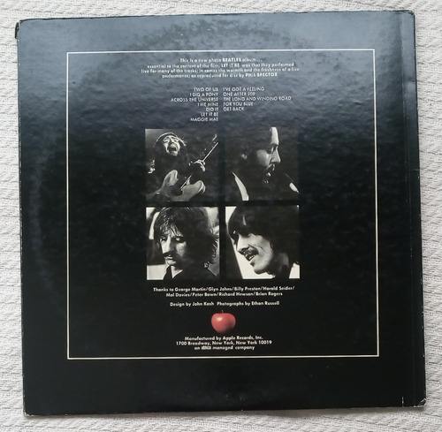 the beatles - let it be ( l p 1ra. ed. u s a 1970)