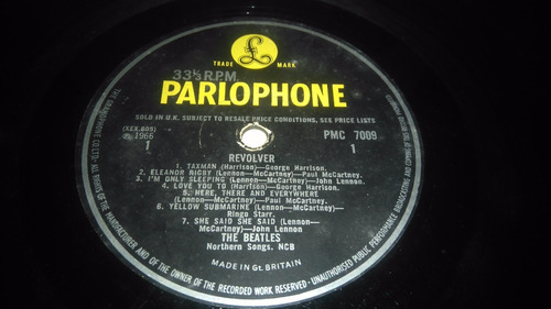 the beatles revolver edicion original vinilo uk 1965mono!